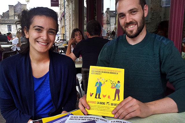 Été 2015, Ava et Bertrand présentaient leur projet...|Photo © Jean-Paul Epinette - icimedia@free.fr