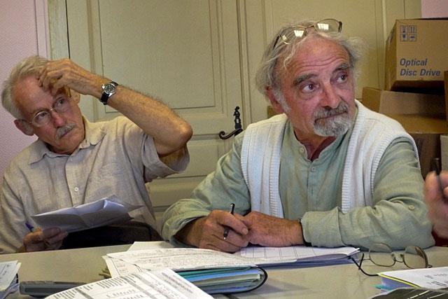 Claude Pons, aux côtés de Pierre Boissère, lors d'une réunion de l'association des 4 cantons.|Archive © Jean-Paul Epinette - icimedia@free.fr
