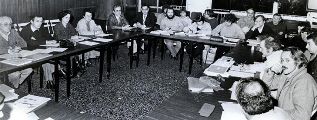 Février 1983 - Réunion de l'association des 4 Cantons à Castillonnès.
