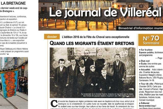 La fête du Cheval Breton fait la une du Journal de Villeréal N°70.|Photo © Jean-Paul Epinette - icimedia@free.fr