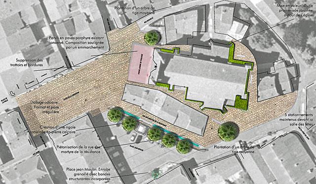 Le projet d'aménagement des espaces publics est en route...|© icimedia@free.fr