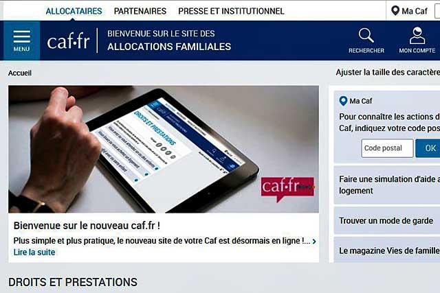 le nouveau site de votre Caf est désormais en ligne !...| Photo DR