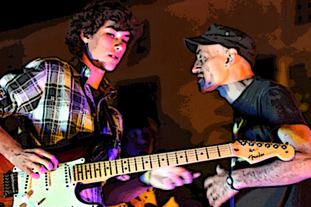 Sur scène les njeunes musiciens de Patrick, Limmie et Francesca...|Photo © jean-Paul Epinette - icimedia@free.fr