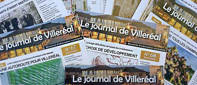 Le journal de Villeréal paraît tous les deux mois. |Photo © jean-Paul Epinette - icimedia@free.fr