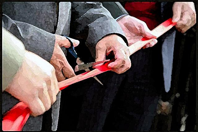 Le ruban officiel vient clore une des plus belles opérations d'aménagement de la bastide de Villeréal...|Illustration DR