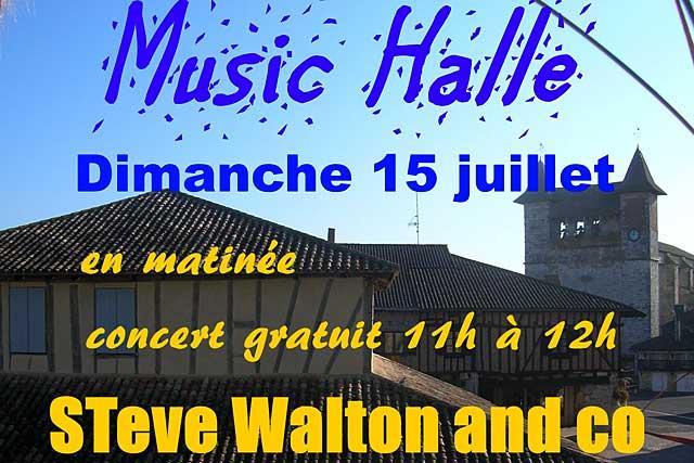 Les Music'Halle redémarrent avec Steve Walton Blues Songs...|Photo DR