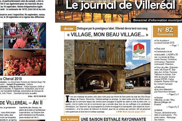 La Poste distribue le n°82 du Journal de Villeréal depuis lundi.... Photo © jean-Paul Epinette - icimedia@free.fr