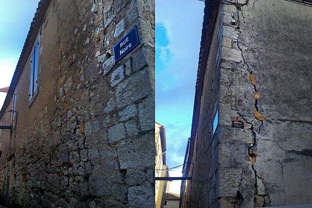 La dislocation de l'appareillage des pierres d'angle est désormais très apparent...|Photo © jean-Paul Epinette - icimedia@free.fr
