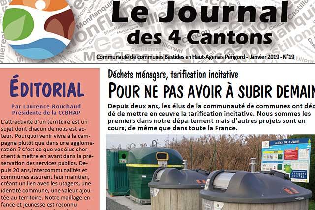 La réforme de la collecte et de la tarification des ordures ménagères est au coeur de ce nouveau numéro du journal communautaire...|Photo © Jean-Paul Epinette - icimedia@free.fr