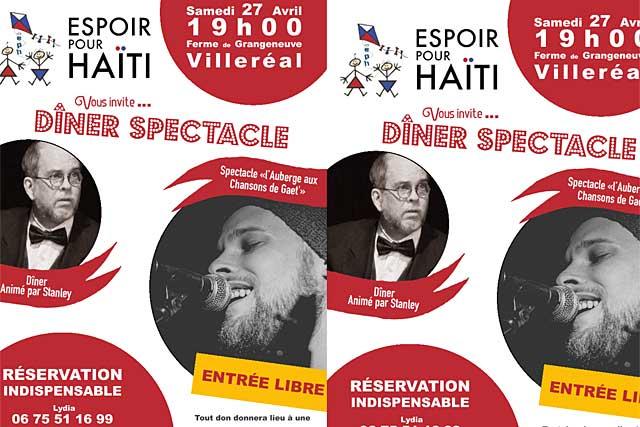Espoir pour Haïti lancxe une invitation pour son spectacle à la Ferme de Grangeneve|Illustration DR