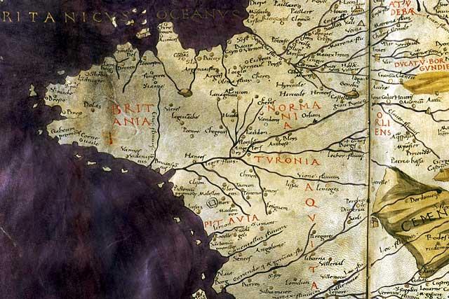 La bastide de Villeréal figure sur l'Atlas dit de Ptolémée, établi vers 1450...|permission Gallica-BnF