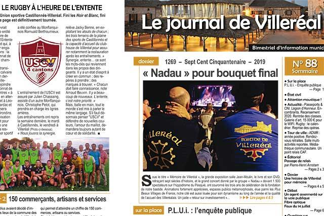 Le N°88 du Journal de Villeréal est distribué par La Poste depuis lundi...|Photo © Jean-Paul Epinette