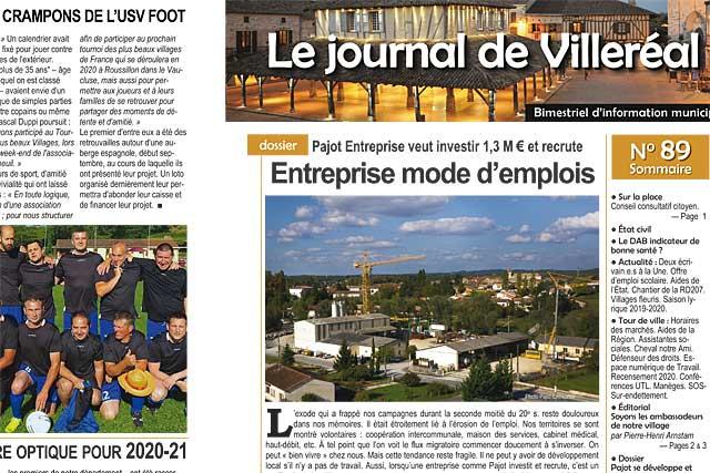 Le numéro 89 du Journal de Villeréal est distribué par la Poste dans tous les foyers villeréalais... Photo © Jean-Paul Epinette - icimedia@free.fr