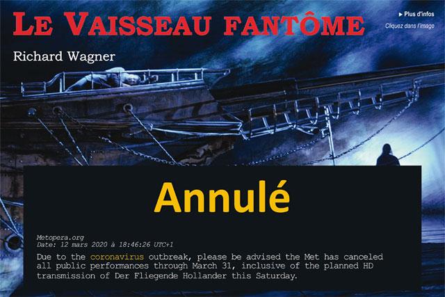 Un mail urgent nous a appris l'annulation du Vaisseau Fantôme en début de soirée|Illustration © Jean-Paul Epinette