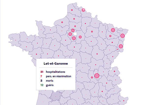 Pour l'heure, le bilan reste en Lot-et-Garonne...|Illustration S.P.F. in Le Monde