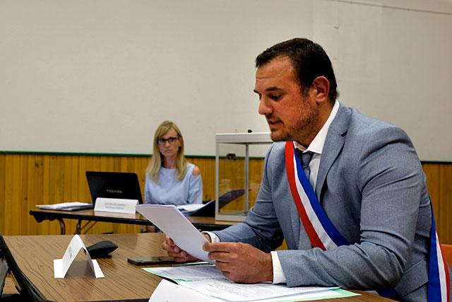 Au cours de cette séance, Guillaume Moliérac va parfaire l'organisation de l'assemblée communale...|Photo © Jean-Paul Epinette.
