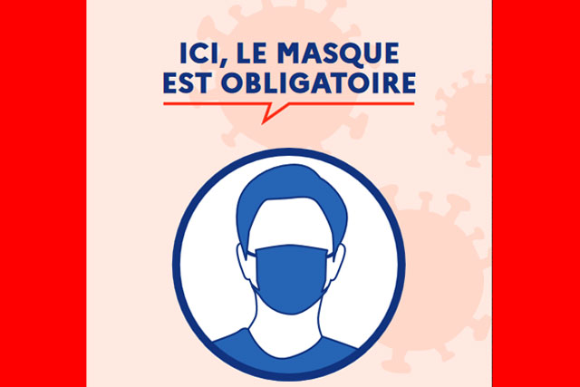 Le port du masque est obligatoire de jour comme de nuit sur tout le territoire des communes de plus de 2 500 habitants.|(Illustration DR)
