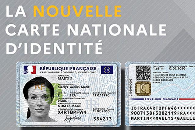 Comme le permis de conduire, la nouvelle carte nationale d'identité aura le format d'une carte bancaire. Illustration .gouv.fr (DR.)
