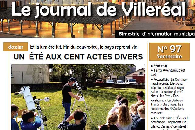 Le Journal de Villeréal N° 97 est en cours de distribution par La Poste...   Photo © Jean-Paul Epinette